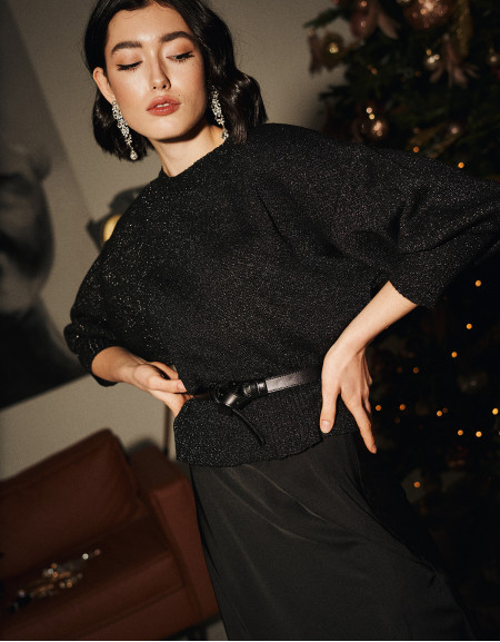 Black Lurex Sweater